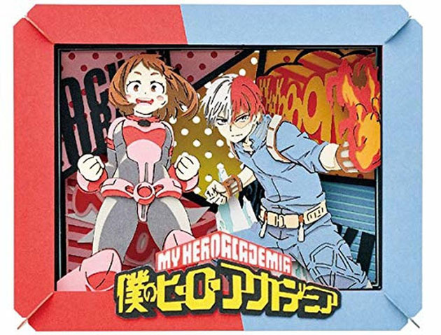 Paper theater box gift for anime lovers from My Hero Academia.